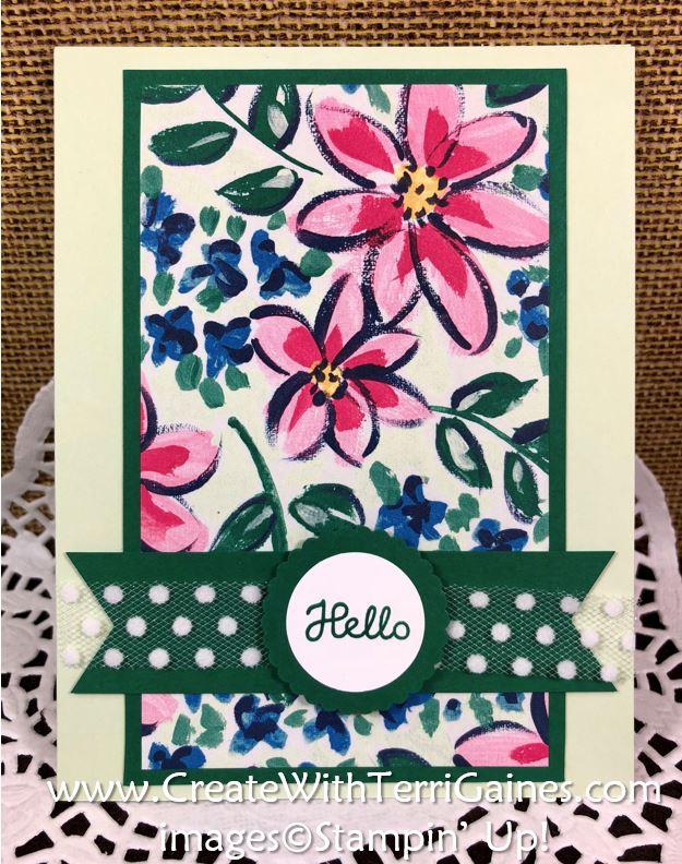 Garden Impression Designer Series Paper Swap Card #3