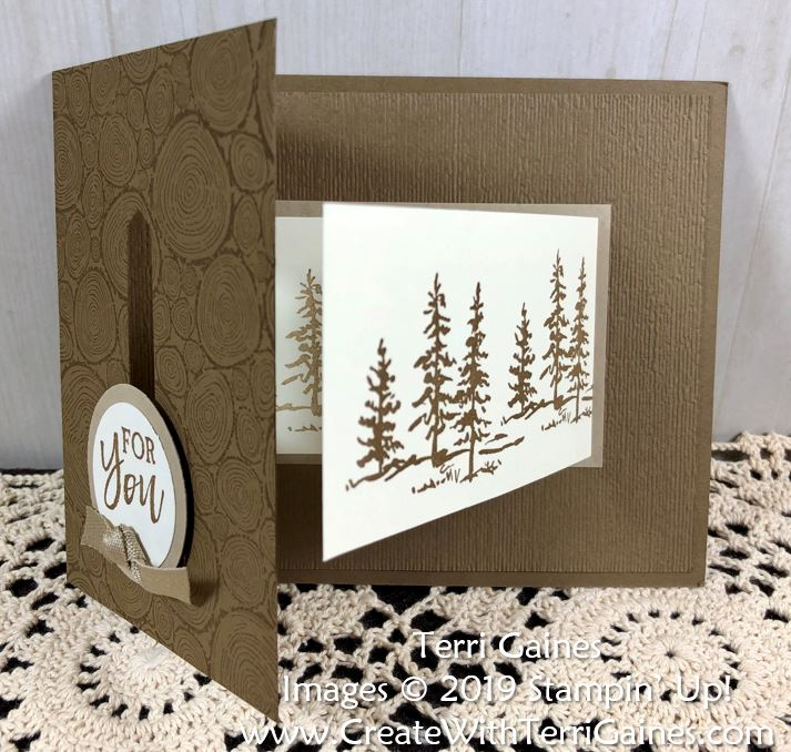 Fun Fold Buckle Card Made With Tree Ring Background Amp Let