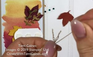 Super Easy Note Cards made with Gathered Leaves Dies